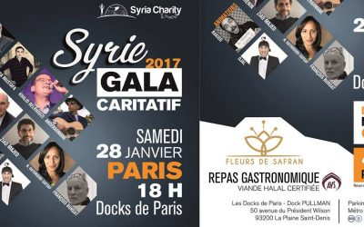 Cocktail et diner pour Syria Charity (1.200 pers.)